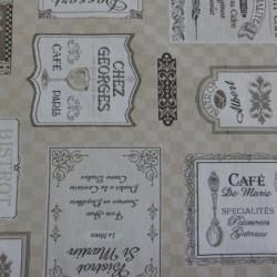 """tissu jacquard"""" café de Paris"""" réf17412"""