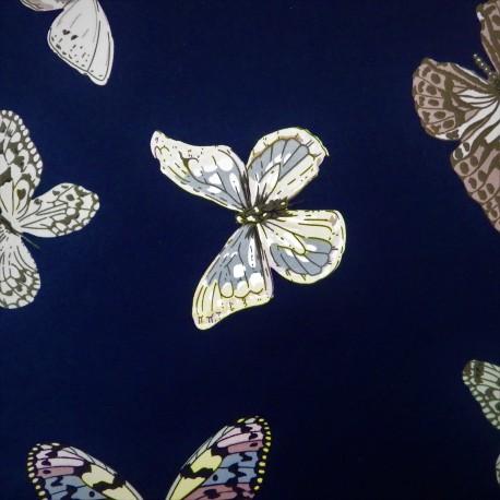 Satin coton papillons :réf 45786
