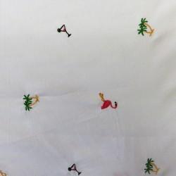 Popeline coton brodé : réf  45788