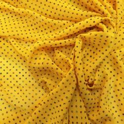 Tissu mousseline imprimé à pois Multi couleurs : 44941