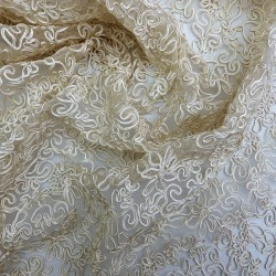 Tissu guipure beige : 44777