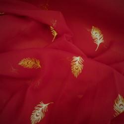 Tissu mousseline à plumes :  44511
