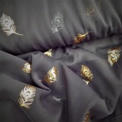 Tissu mousseline à plumes :  44525