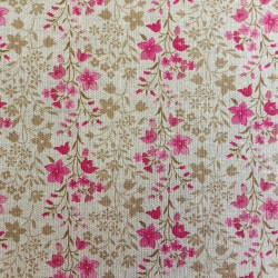 Tissu toile  lin coton flowers : 57935