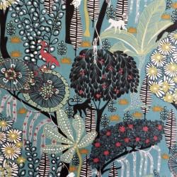 Tissu coton jungle : 57961