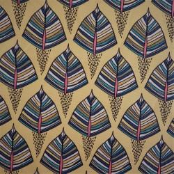 Tissu coton à feuillages EKOZI  : 57962