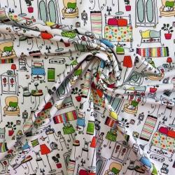 Tissu Jersey coton :  44147