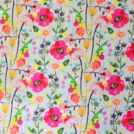 Tissu coton flowers  : 58007