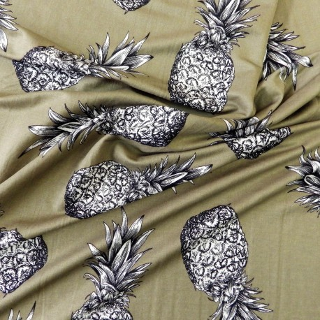 Tissu viscose ananas :