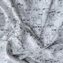 """Tissu viscose """" face drawing"""" 58016"""