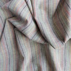 Tissu lin coton rayé : 58021