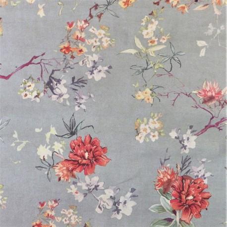 Tissu suédine  flower : 21644