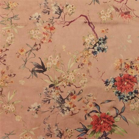 Tissu suédine flower : 21643