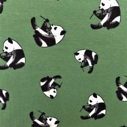 "Tissu jersey coton "" panda"" : 21120"