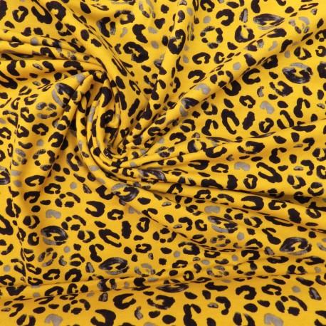 Tissu sweat léopard :