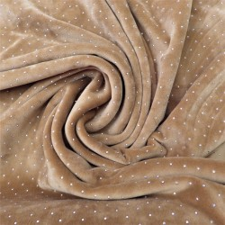 Tissu velours ras à pois argentés : 21527