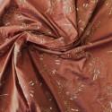 tissu soie sauvage brodé réf: 16385