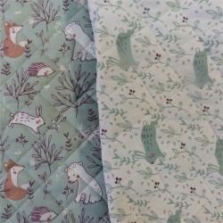 Tissu coton matelassé:  22835