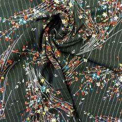 Tissu viscose à fils lurex : 22836 : 14.50€ le mètre