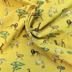 """Tissu jersey coton """" SAFARI IN AFRICA"""" : 22865 : 16.30€ le m"""