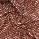 Tissu viscose  fiduo  terracotta /  réf : 22868