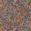 Tissu cretonne imprimée Aborigène  / réf  22869