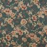 Tissu  satin coton flowers  /  12733