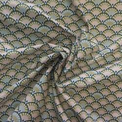 Tissu coton imprimé japonnais / réf :  22871