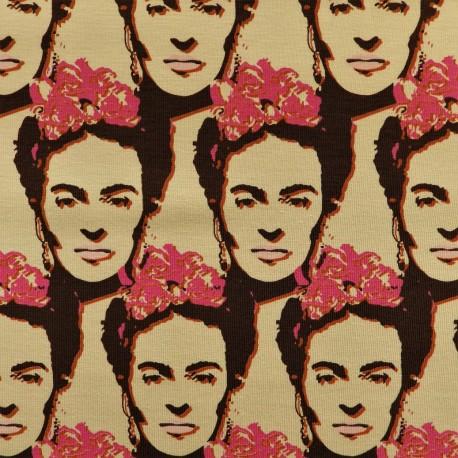 "Tissu jersey coton  "" Frida Kahlo"" /  12249"
