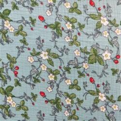 Tissu double gaze à fleurs :  12922  / 9.50€ le m