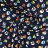 """Tissu jersey coton """" bateaux"""" /  réf  12308"""