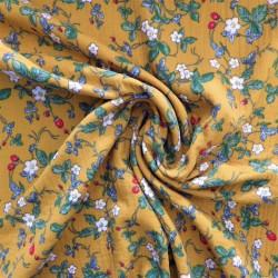 Tissu double gaze à fleurs :  12918