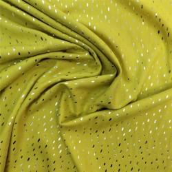 Tissu viscose pointillés argentés :  réf 12764