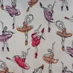 """Tissu jersey coton """" Danseuse """" /  réf 12293"""