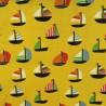 """Tissu jersey coton """" bateaux"""" /  réf  12307"""
