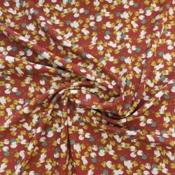 Tissu viscose  fiduo  terracotta /  réf : 12281