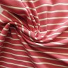 Tissu jersey  rayé à fils lurex : réf: 22880