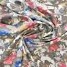 Tissu viscose  fiduo  terracotta /  réf : 12742