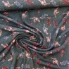 "Tissu crêpe "" indiana"" tigre : réf 12601"