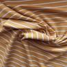 Tissu jersey rayé à fils lurex / réf: 22887