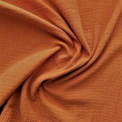 Tissu double gaze darkorange / réf : 22901