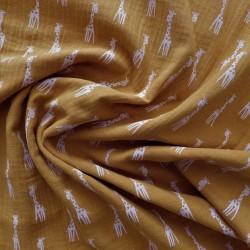 Tissu double gaze girafe : 12221