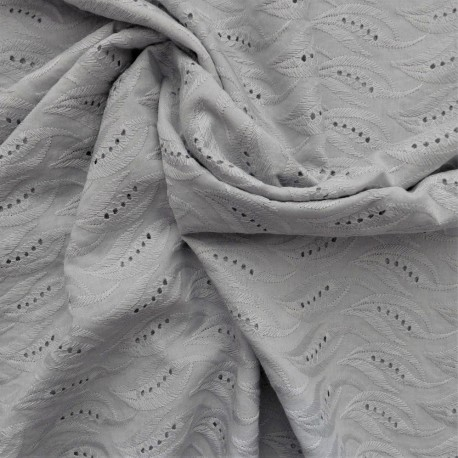 Tissu broderie anglaise coton : 12180