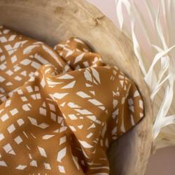 """Tissu atelier Brunette """" shade ochre"""" :22941"""