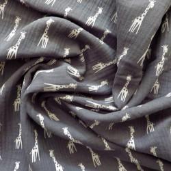 Tissu double gaze girafe : 22963