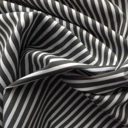 Tissu coton à rayures argentés : 22991