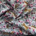 Tissu popeline coton jungle : 12931