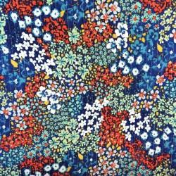 Tissu crêpe viscose à fil argenté : 23542