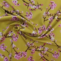 "Tissu satin coton "" rosella cherry"" : 23207"
