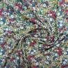 Tissu crêpe viscose à fil argenté